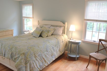 Brewster Cape Cod vacation rental - Master Bedroom with queen, TV, A/C window unit and  full bathroom
