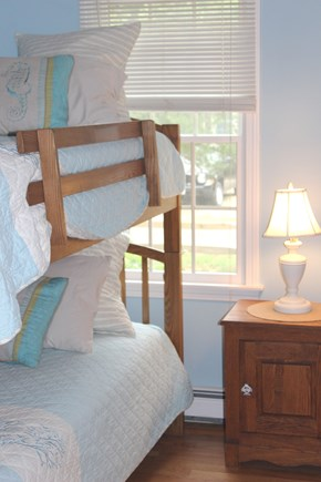 Brewster Cape Cod vacation rental - 3rd bedroom with set of bunks (2 twins)
