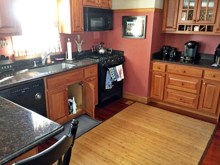 West Yarmouth Cape Cod vacation rental - Kitchen area, Breakfast Bar to the left