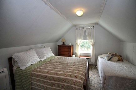 North Truro Cape Cod vacation rental - Second floor bedroom with double, twin & ductless split unit A/C.