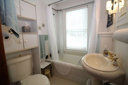 North Truro Cape Cod vacation rental - First floor bathroom with tub/shower.