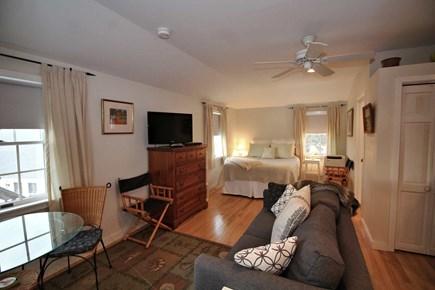 North Truro Cape Cod vacation rental - Studio over garage has queen bed, sitting area, portable A/C.