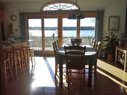 Yarmouth Cape Cod vacation rental - Table view from hall, great water view