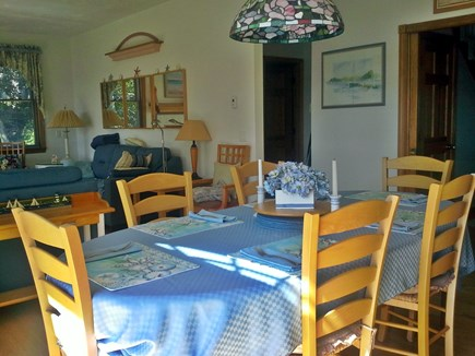 Yarmouth/Dennis Cape Cod vacation rental - Dining room table/living room