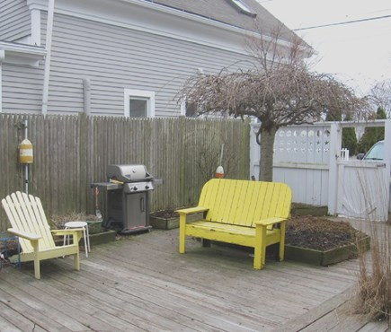 Provincetown Cape Cod vacation rental - Quiet, private courtyard and grill shared by the association.