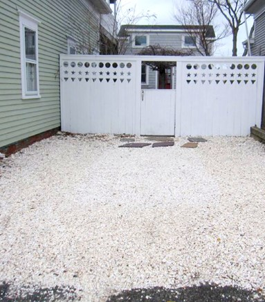 Provincetown Cape Cod vacation rental - Left-hand spot for our unit.  Small/medium car fits easily.