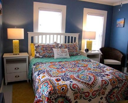 Provincetown Cape Cod vacation rental - Queen bedroom #2; includes en suite bath and a coffee bar!