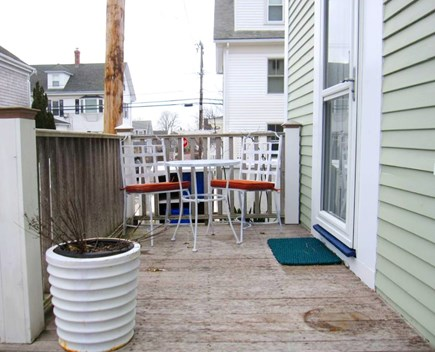 Provincetown Cape Cod vacation rental - Enjoy coffee and watch the world go by from exclusive use deck.