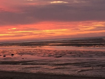 Brewster Cape Cod vacation rental - Sunset at low tide
