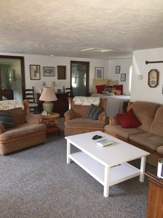 Brewster Cape Cod vacation rental - Large living room with hi-def tv, cable and Blue-Ray player