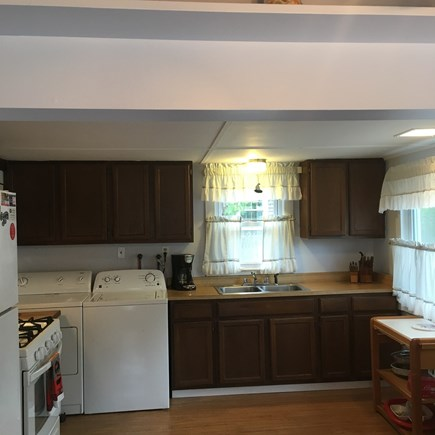 Brewster Cape Cod vacation rental - Roomy kitchen with new washer/dryer and new gas range