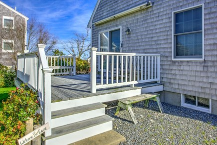 Sandwich Cape Cod vacation rental - Side entry and deck.