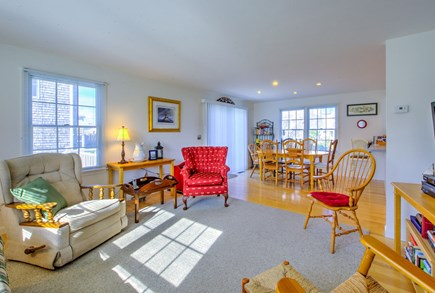 Sandwich Cape Cod vacation rental - Living opens to Dining area.