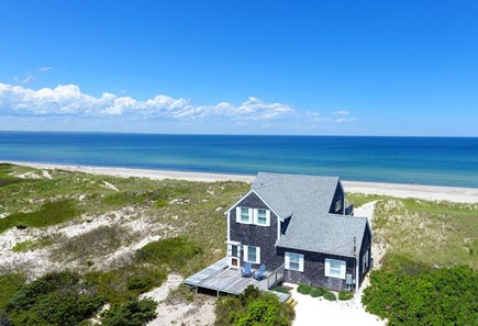 East Sandwich Cape Cod vacation rental - Aerial of cottage and beach