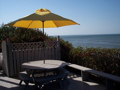Eastham Cape Cod vacation rental - Large deck , viewing south to Dennis