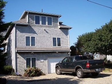 Eastham Cape Cod vacation rental - View of home from street, parking for three cars