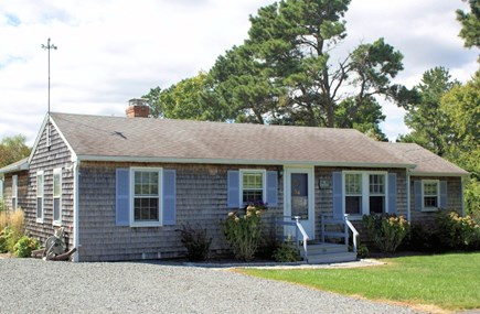 Sandwich Cape Cod vacation rental - Front view of cottage.