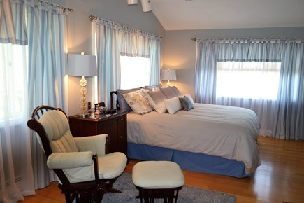 Osterville Osterville vacation rental - First floor master bedroom with King Bed and En suite Bathroom
