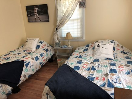 West Dennis Cape Cod vacation rental - Bedroom 3 with a twin bed & full bed & 3 drawer dresser