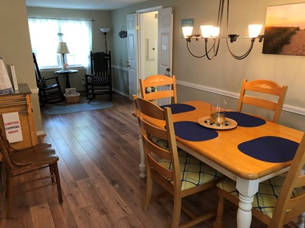 West Dennis Cape Cod vacation rental - Bright spacious dining room - space for extra seating