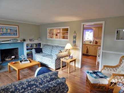 West Dennis Cape Cod vacation rental - Comfy seating living room off the kitchen