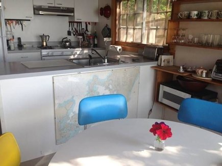 Falmouth, Woods Hole Cape Cod vacation rental - Kitchen is simple, modern, clean