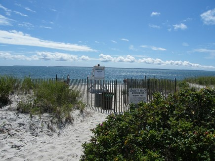 Falmouth, Woods Hole Cape Cod vacation rental - White sand @ Quissett Beach across the lake; short woods walk!