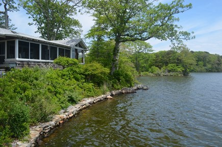 Falmouth, Woods Hole Cape Cod vacation rental - View from the dock -- very private!