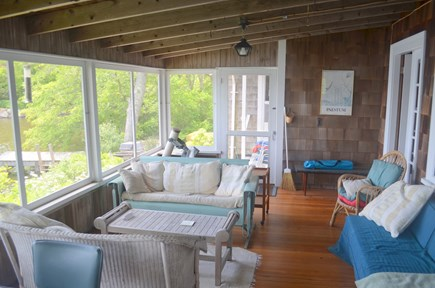 Falmouth, Woods Hole Cape Cod vacation rental - The best room in the house -- the beautiful screened porch