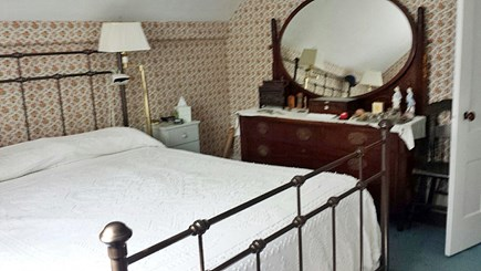 West Barnstable Cape Cod vacation rental - The upstairs queen size bed and bureau.