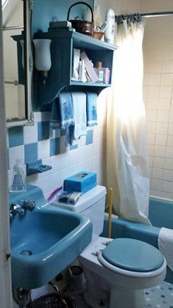 West Barnstable Cape Cod vacation rental - The upstairs bathroom with tub and shower.