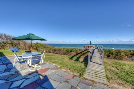 East Sandwich Cape Cod vacation rental - Backyard and patio for outdoor dining.
