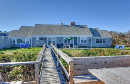 East Sandwich Cape Cod vacation rental - View of the house from the beach side.