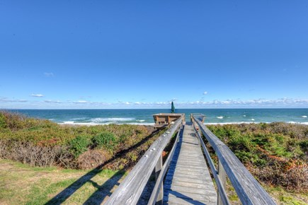 East Sandwich Cape Cod vacation rental - Boardwalk to steps leading to the beach.