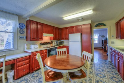 East Sandwich Cape Cod vacation rental - Kitchen with small dining table.