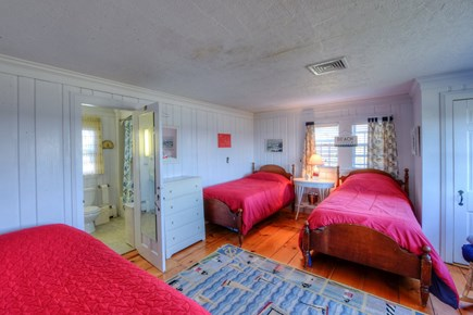 East Sandwich Cape Cod vacation rental - Bedroom with 3 Twins.