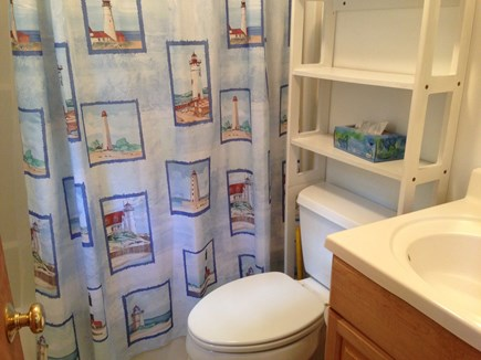 Brewster Cape Cod vacation rental - Full bath with tub and shower