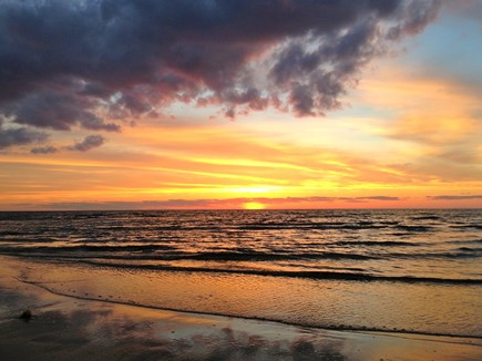Brewster Cape Cod vacation rental - Walk to the beach for the sunset.