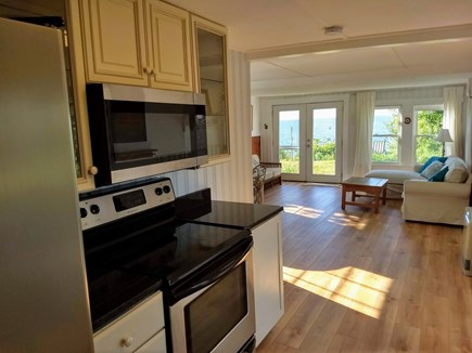 Brewster Cape Cod vacation rental - Kitchen with Full sized stove, micro wave and French Door frig,