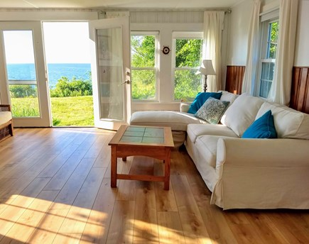 Brewster Cape Cod vacation rental - Large Living room with ocean and sunset views