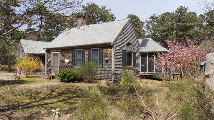 Eastham Cape Cod vacation rental - Front showing screened porch on right side