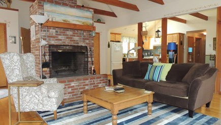 Eastham Cape Cod vacation rental - Living Room/Fireplace