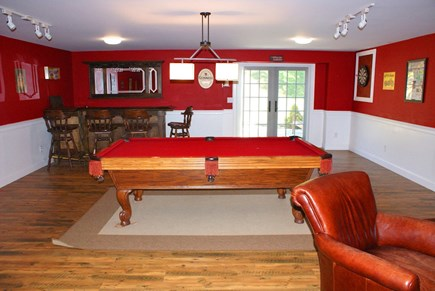 East Sandwich Cape Cod vacation rental - Lower level Game room.