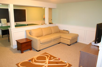 East Sandwich Cape Cod vacation rental - Lower level Sitting area.