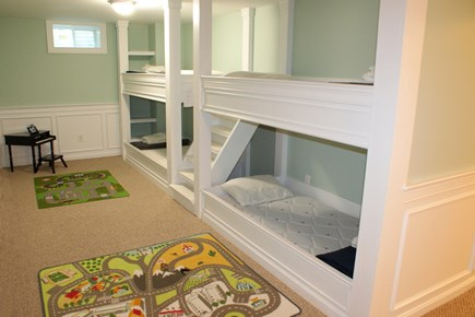 East Sandwich Cape Cod vacation rental - Built in Bunks in Lower Level Den