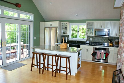 East Sandwich Cape Cod vacation rental - Kitchen opens to deck.