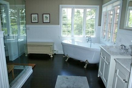 East Sandwich Cape Cod vacation rental - Master Bath.