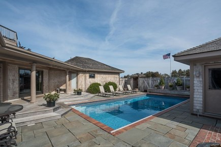 Orleans, MA Cape Cod vacation rental - Enter the home through the enclosed patio with heated pool