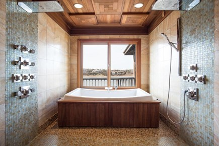 Orleans, MA Cape Cod vacation rental - Luxurious master bath with 2 rain head showers and jetted tub