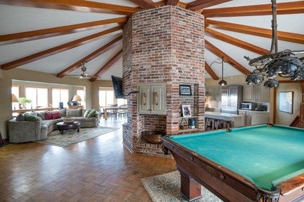 Orleans, MA Cape Cod vacation rental - Open concept great room with water views, pool table, deck access